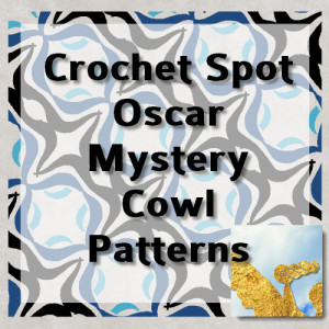 Oscar Mystery Cowl Patterns Graphic by Caissa McClinton @artlikebread for @crochetspot