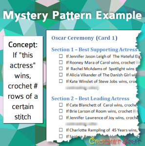Oscar Mystery Crochet Along on @crochetspot by Caissa McClinton @artlikebread 2