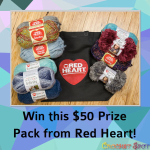 Win this $50 Prize Pack from Red Heart on @crochetspot by Caissa McClinton @artlikebread