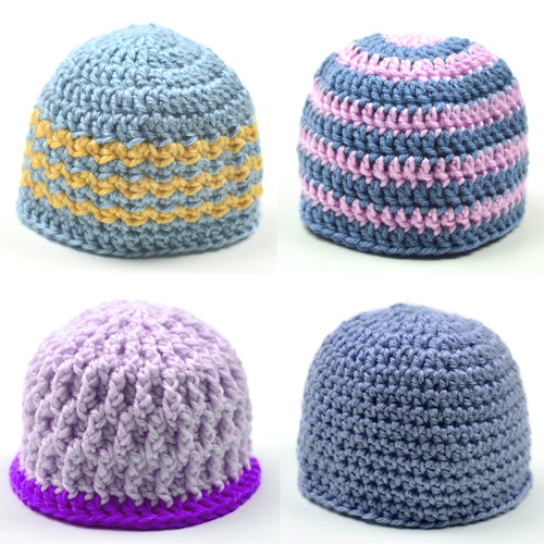 crochet unisex baby hats