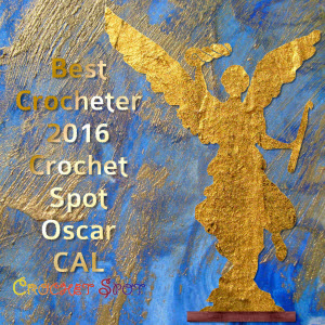 300 Best Crocheter 2016 Oscar Crochet Along Badge by Caissa McClinton @artlikebread for @crochetspot