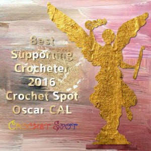300 Best Supporting Crocheter 2016 Oscar Crochet Along Badge by Caissa McClinton @artlikebread for @crochetspot