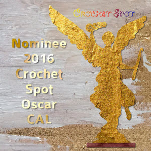 300 Nominee 2016 Oscar Crochet Along Badge by Caissa McClinton @artlikebread for @crochetspot
