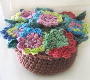 crochet potpourri flower pot