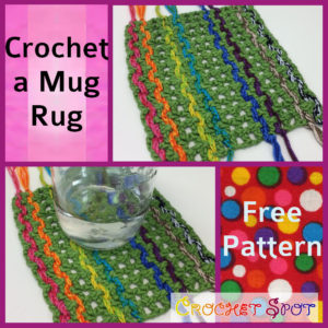 Crochet a Mug Rug Free Pattern by Caissa McClinton @artlikebread for @crochetspot