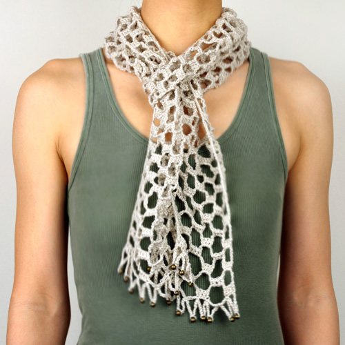 crochet barely there scarf