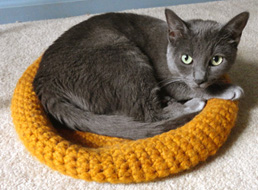crochet cat bed 1