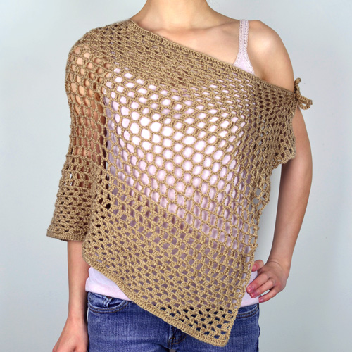 crochet mesh shawl