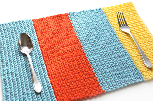 single crochet sampler placemat
