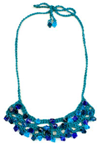 crochet beaded necklace 2