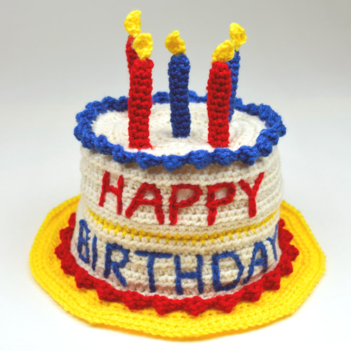 Knitted Birthday Cake Hat
