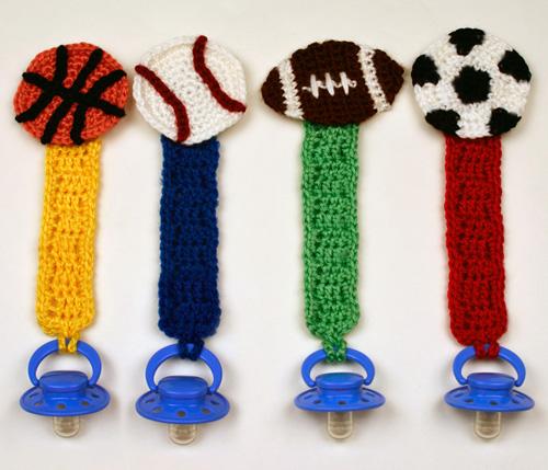 Crochet Spot Blog Archive Crochet Pattern Sporty Pacifier