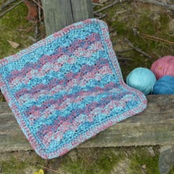 Gradient Seashore Dishcloth