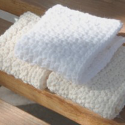 3 Washcloths in Single Crochet