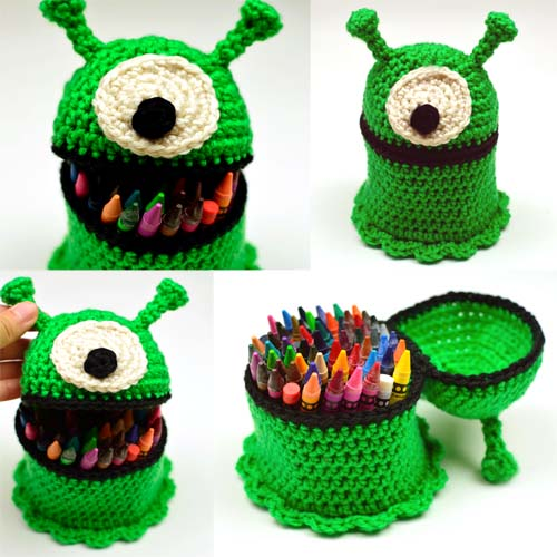 crochet alien container
