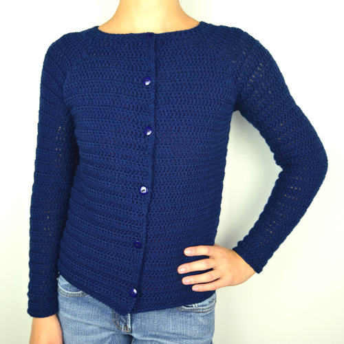 ... Crochet Pattern: First-Timer Cardigan Sweater (9 Sizes) - Crochet
