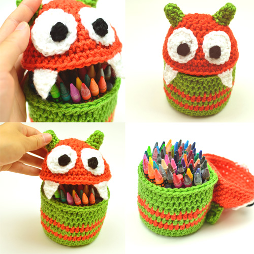 crochet monster container