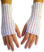 Shell Lace Fingerless Gloves