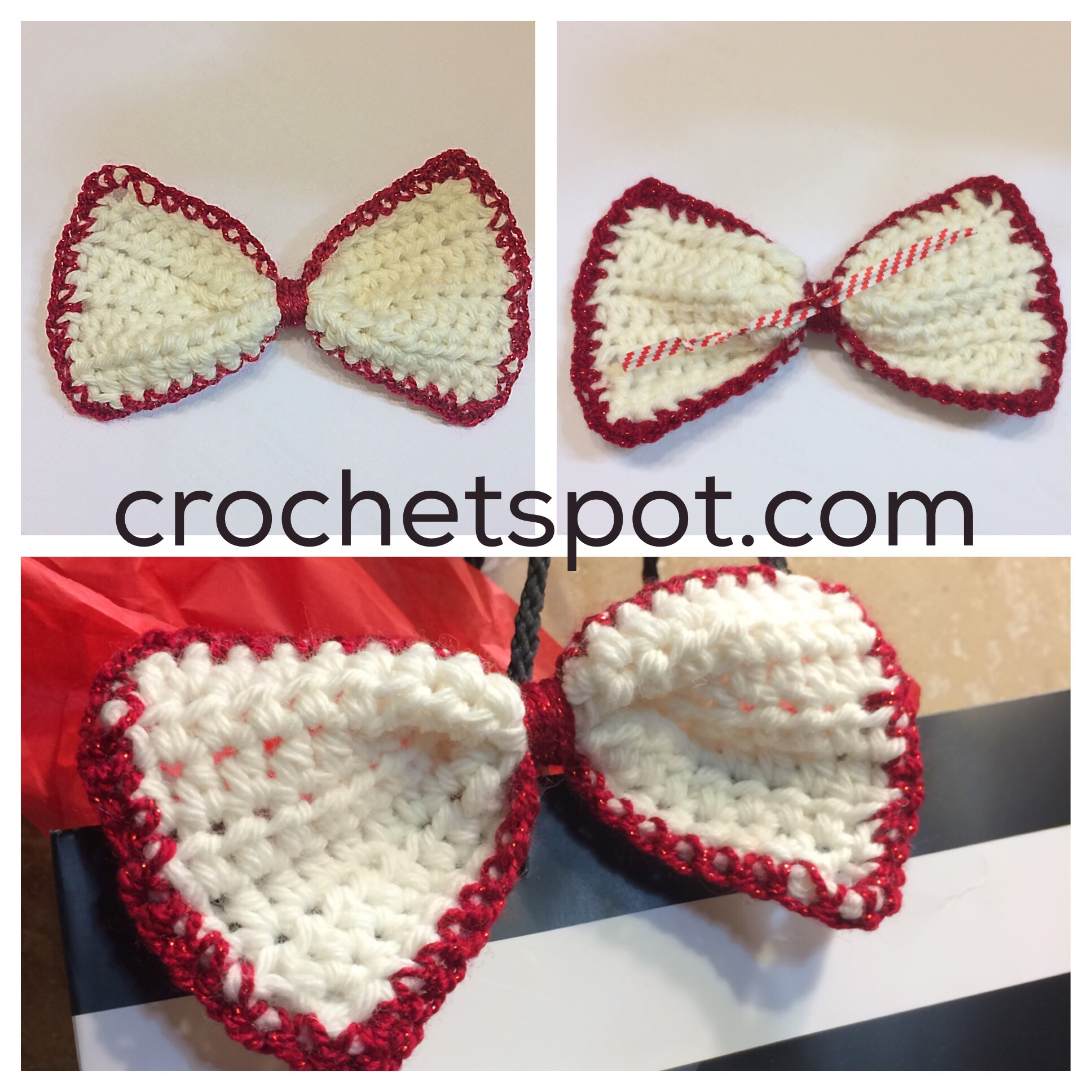 Crochet Spot » Blog Archive » Crochet Pattern: Reusable Gift Bow ...