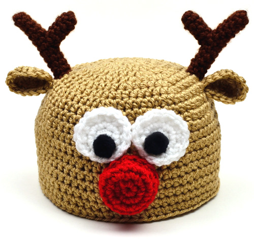 Free Crochet Patterns For Reindeer Hats : Crochet Spot Blog Archive Crochet Pattern: Reindeer ...