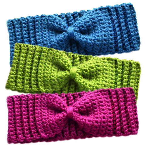 ... Crochet Pattern: Subtle Bow Ear Warmers - Crochet Patterns, Tutorials