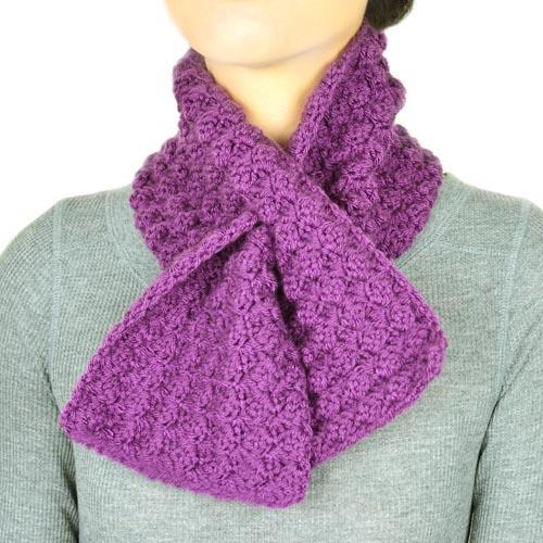 Crochet Spot Blog Archive Crochet Pattern Cozy Keyhole Scarf