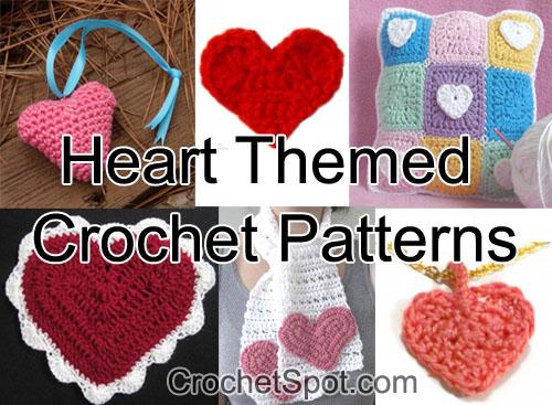 Crochet Spot Blog Archive Heart Themed Crochet Patterns For