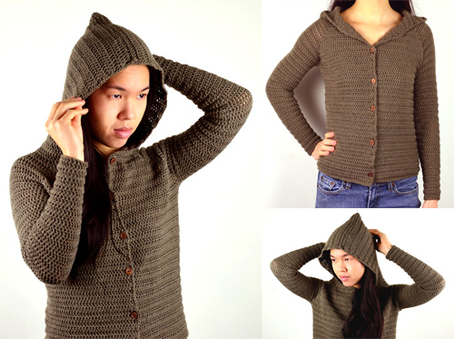 Crochet Spot » Blog Archive » Crochet Pattern: Hooded Cardigan ...