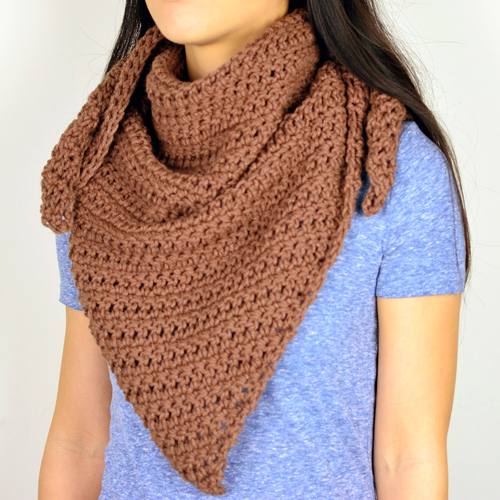 ... Crochet Pattern: Quick Chunky Triangle Scarf - Crochet Patterns