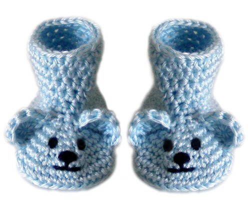 Crochet Spot » Blog Archive » Crochet Pattern: Baby Bear Booties (3 ...