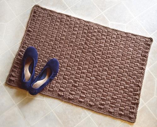 Crochet Spot » Blog Archive » Crochet Pattern: Basketweave Rug ...