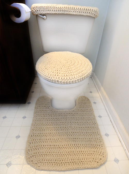 Crochet Pattern  Toilet Cover Set and Contour Rug. Crochet Spot   Blog Archive   Crochet Pattern  Toilet Cover Set