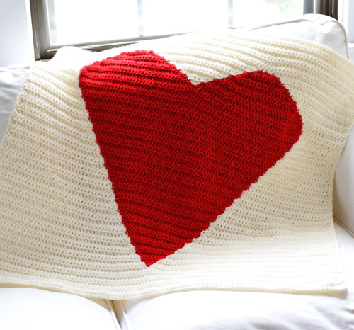 Crochet Spot Blog Archive Crochet Pattern Big Heart Blanket