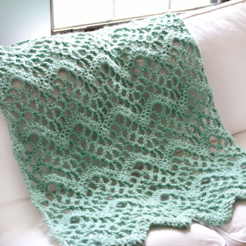Crochet Spot Blog Archive Crochet Pattern Chunky Lacy Chevron