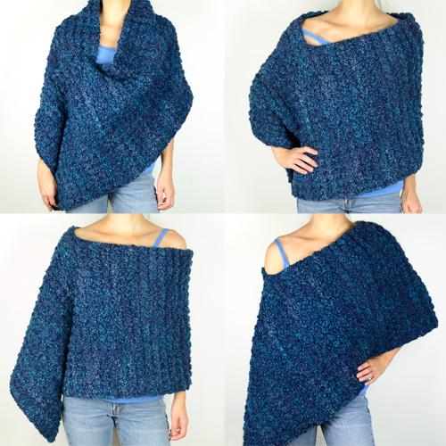 Crochet the gift poncho pattern | the crochet crowd.
