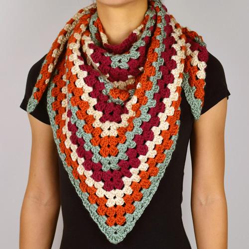 Crochet Spot Blog Archive Crochet Pattern Granny Triangle Scarf