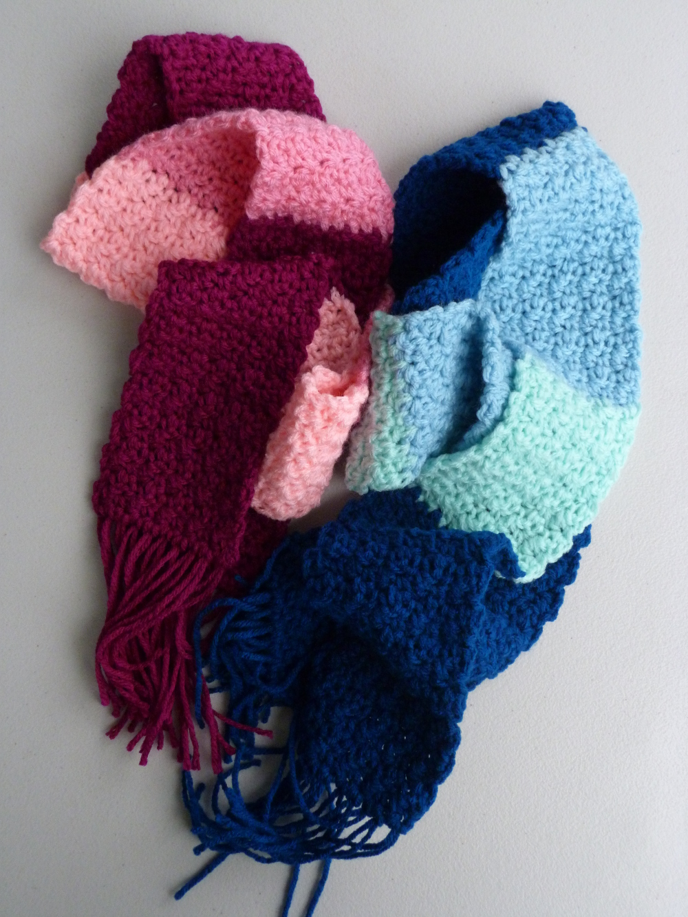 Kid's Colorblock Scarf together