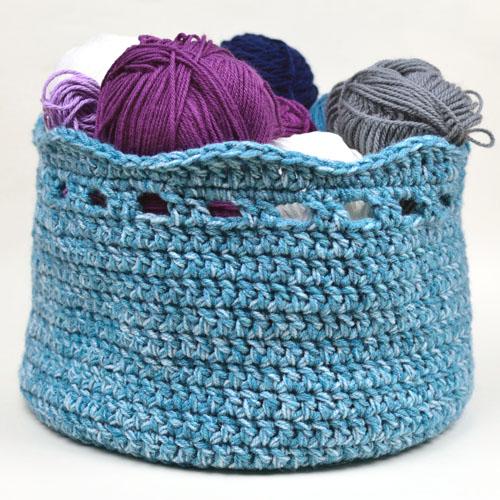 Crochet Spot Blog Archive Crochet Pattern Eyelet Wave Basket