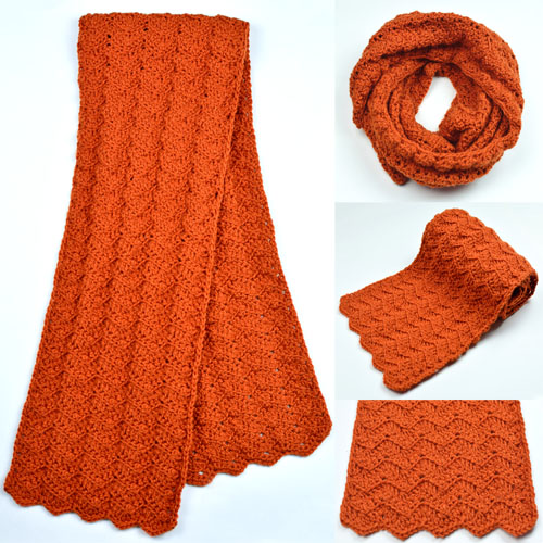 Crochet Spot Blog Archive Crochet Pattern Solid Chevron Scarf