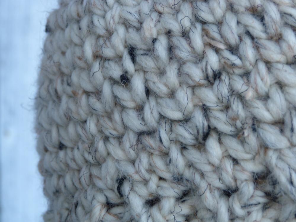 Chunky Bun Beanie closeup