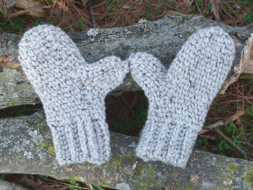 Crochet Pattern: Chunky Knit Stitch Mittens