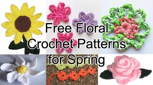 Crochet Spot Blog Archive Free Floral Crochet Patterns For