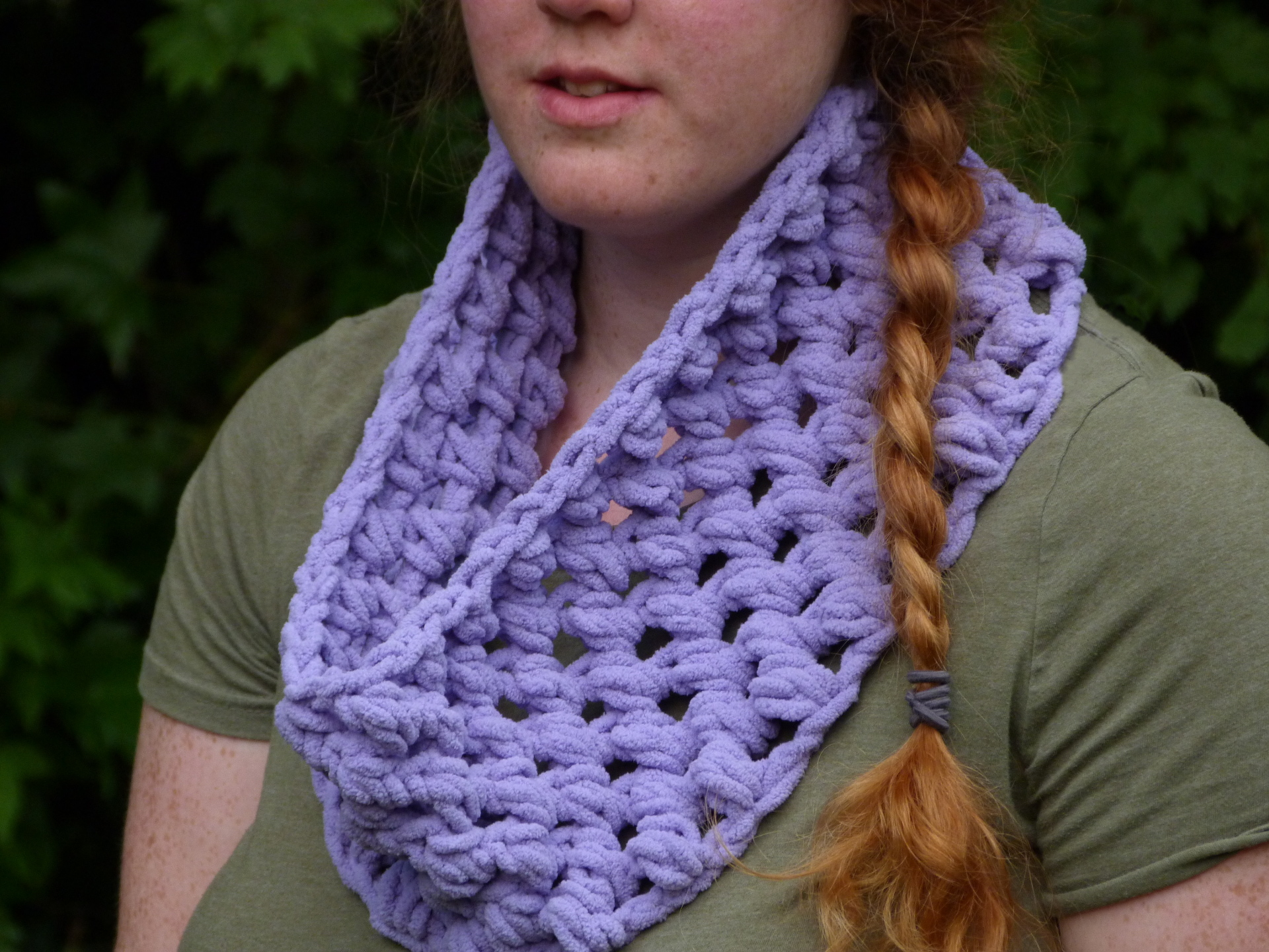 Chunky Puff Cowl at Crochet Spot