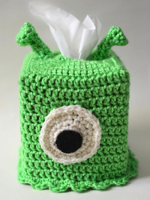Crochet Spot Blog Archive Crochet Pattern Alien Tissue Box
