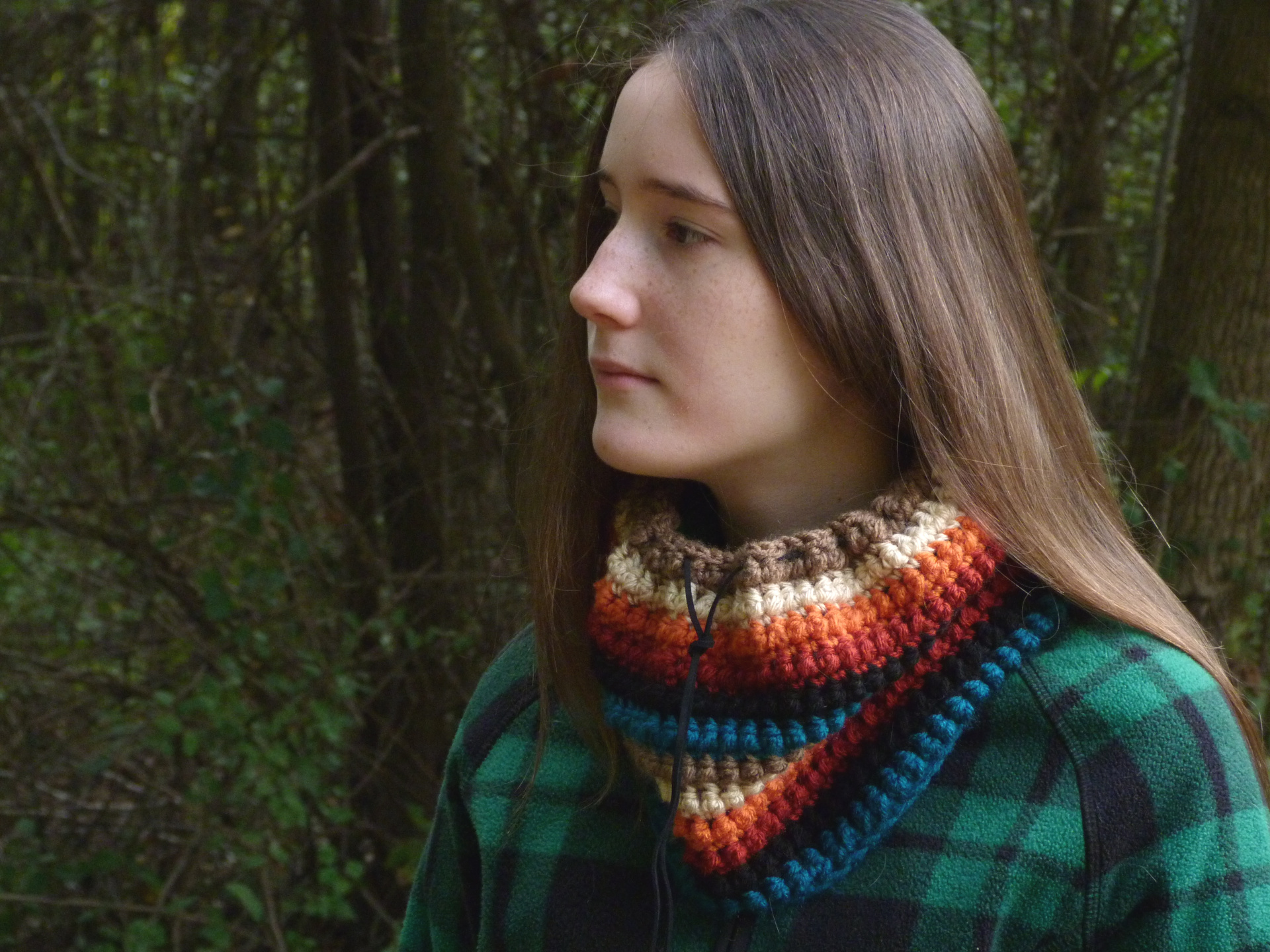 Crochet Pattern: Southwestern Striped Cowl