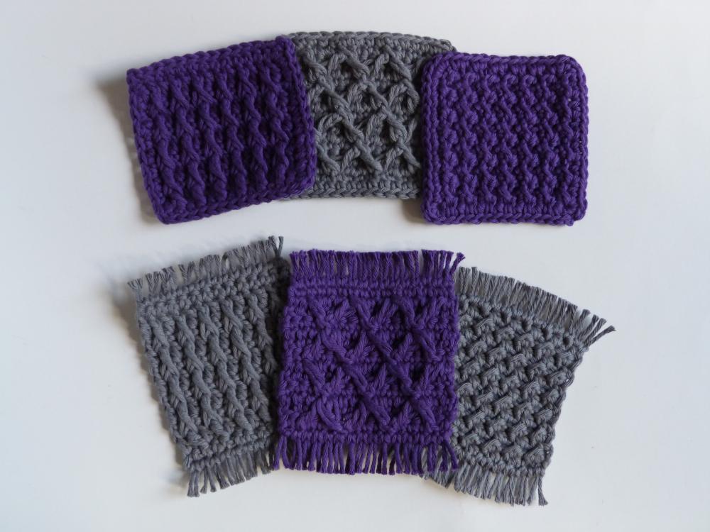 2. Crochet Sampler Coasters