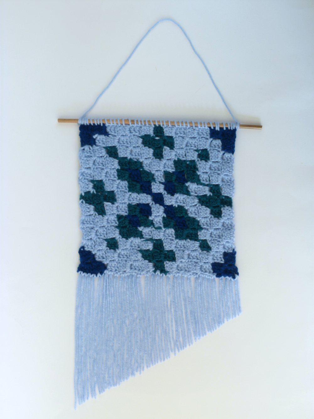 Icy blue adjustable crochet top
