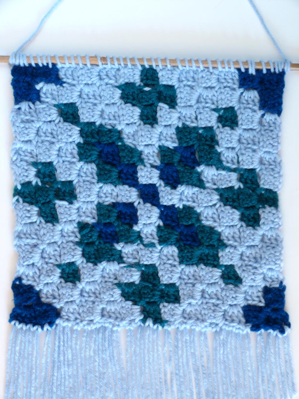 2. Winter Snowflake C2C Wall Hanging