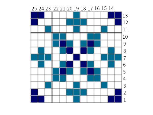 Snowflake graph 13x13 1